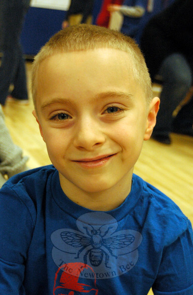 The Newtown Bee: What is an example of a kind act? Shawn DiBiase: If someone is blind and trying to get through, you can help them out and lead them to where they are. (Hallabeck photo)