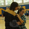 Newtown High School Spanish 4 students Kris Whelan and Tara Hegarty practiced dancing the tango before a dance contest was held as part of Argentina Day at NHS on April 24. (Hallabeck photo)