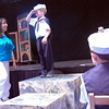 Fraser Woods Montessori School Dean of the Middle School Wendy Musk and the writer and director of the play All the World's A Stage was saluted by kindergartener Parker Paulos on Thursday while he practiced his part as one of the dancing sailors in the production. (Hallabeck photo)