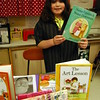 Middle Gate Elementary School fourth graders presented their Living Biographies projects on Friday, May 1. Each student represented their person they studied during the event. Gillian Torreso studied Tomie dePaola. (Hallabeck photo)
