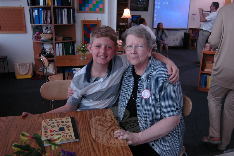 Fraser Woods Montessori School student Nathanial Varda and his grandmother Marilyn Craughwell sat together on Monday, May 11, during the school's annual Grandparents Day event. (Hallabeck photo)