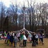 Housatonic Valley Waldorf School students and teachers worked their way around a Maypole during the the May Fair. (Hallabeck photo)