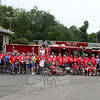 For the second consecutive year, Minuteman Challenge riders and their escorts made a rest stop at the Sandy Hook Volunteer Fire & Rescue main station on Riverside Road. (Hicks photo)