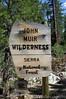 John Muir Wilderness Sign