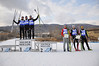 Geoffrey LaFarge, France (3rd place), Mark Schlott, Germany (1st place), Michael Duenkel, Germany (2nd place), Philipp Orter, Austria (4th place), Adam Loomis, USA (5th place), Samuel Guy, France (6th place)<br /> 2011 FIS Continental Cup at Soldier Hollow (Lake Placid reschedule). <br /> Normal Hill/10k, Wednesday, Dec. 14, 2011<br /> Photo: Katie Perhai/U.S. Ski Team