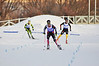 Mark Schlott, Germany (1st place), Michael Duenkel, Germany (2nd place), Geoffrey LaFarge, France (3rd place)<br /> 2011 FIS Continental Cup at Soldier Hollow (Lake Placid reschedule). <br /> Normal Hill/10k, Wednesday, Dec. 14, 2011<br /> Photo: Katie Perhai/U.S. Ski Team