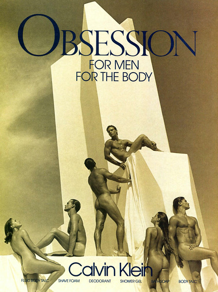 CALVIN KLEIN Obsession for Men 1987 US 'For men - For the body'