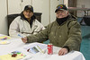 Annual General Meeting of Keewaytinok Native Legal Services held in Moosonee 2014 February 12th. Lindy Wynne, Tom Hookimaw.