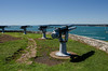 The gun emplacements at the top of North Head.