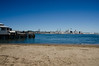 A view across to Auckland City from the Devonport beach.