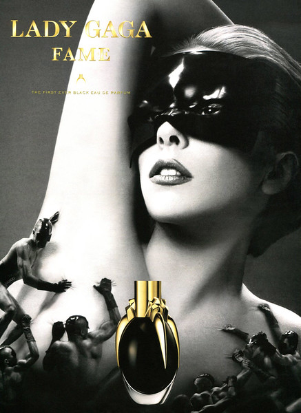 LADY GAGA Fame 2013 US 'The first ever black Eau de Parfum'