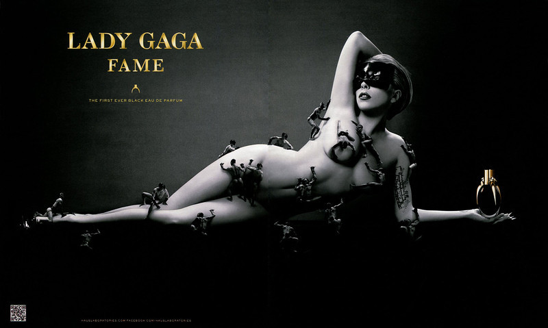LADY GAGA Fame 2012 Germany spread (format In Style) 'The first ever black Eau de Parfum'
