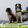 Skye & Ted on Mountain Rescue vehicle