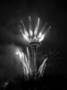Space Needle fireworks, bw-New Years celebration-Seattle, WA 1-1-2010