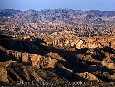 Badlands in Anza Borrego State Park, California