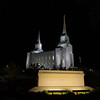 Brigham City Utah Temple Sign (Night)
