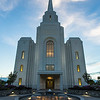 Brigham City Utah Temple Entrance (Sunset)