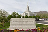 Draper Utah Temple Grounds and Sign