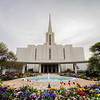 Jordan River Utah Temple Entrance Springtime