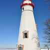 MARBLEHEAD LIGHTHOUSE TOWER IN THE WINTER
