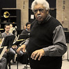 Rufus Reid rehearsing with the LSU Jazz Ensemble. This image is the property of Louisiana State University and may not be used, reprinted or reproduced without the express written permission of the LSU College of Music & Dramatic Arts.