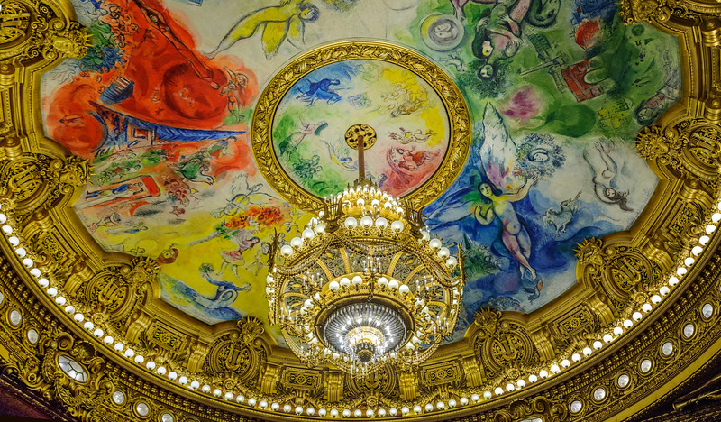 Marc Chagall's grand work for the Palis Garnier finished in 1964