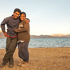 We are Chetan and Sandeepa at Tso Moriri, India