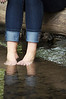 Senior Picture - Class of 2014 - Catie Feet in water - Image ID # 8180