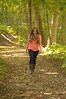 Taking a walk down a path - Catie Senior - Class of 2014 - Image ID # 7178