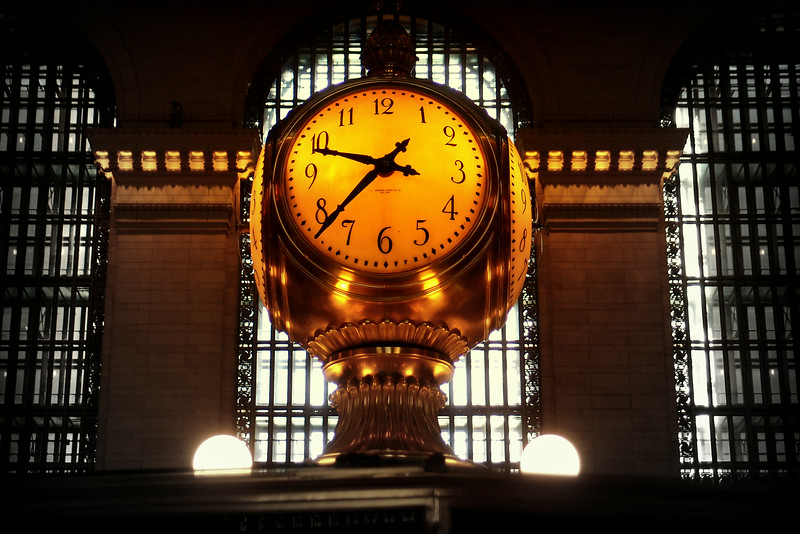 Grand Old Clock at Grand Central Station, New York