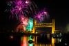 New Year's Eve Celebration over the Sacramento River