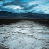 A one minute exposure of Badwater Basin near the West Side Road in Death Valley National Park in California.
