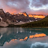 Moraine Lake,  Sunrise landscape