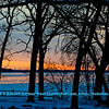Cross country skier's and hiker's view from the Woodland Trail of oak trees and a frozen Lake Mendota and the state of Wisconsin capitol of Madison within Governor Nelson State Park (USA WI Waunakee; Obst FAV Photos 2013 Nikon D800 Landscapes Inspirational Image 7490)