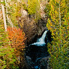 Autumn foliage frames the Cascade River Falls upstream of the MN Highway 61 bridge along the Superior Hiking Trail within Cascade River State Park (USA MN Lutsen; RAO 2012 Nikon D300s Image 3931)