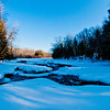 Cross country skiers late afternoon view of the ice and snow covered bottom of Sherry Rapids on Section 2 of the wild Wolf River (USA WI White Lake; Obst FAV Photos 2013 Nikon D300s Landscapes Inspirational Winter Beauty Image 4980)