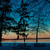 Cross country skier's New Year Day's view of a partially frozen Lake Mendota during a winter evening rosy sunset within Governor Nelson State Park (USA WI Middleton; Obst FAV Photos 2013 Landscapes Inspirational Sunsets Nikon D300s Image 4441)