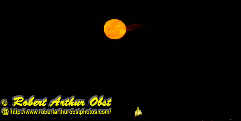 Gorgeous full 2013 Vernal Equinox early spring Moon rising over Lake Mendota and the Wisconsin state capitol of Madison as observed from near the outlet of Pheasant Branch Creek Conservany (USA WI Middleton; Obst FAV Photos 2013 Nikon D800 Landscapes Inspirational Image 8457)