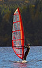 Windsurfer in Loch Venachar - Trossachs - 29 October 2013