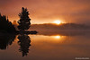 Misty Sunrise at Smoke Lake, Algonquin Provincial Park, Ontario