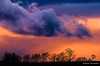Storm Clouds at Sunset, Bradford, Ontario