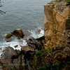 """Raven's Nest"" Acadia National Park at Schoodic Peninsula.. Looking down from the rocky bluff."
