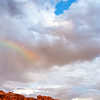 North Window Arch and Rainbow