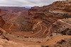 Access road to the White Rim Trail in Canyonlands N.P. It is a 3 day camping adventure if you go all the way around it.