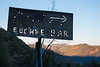 Euchre Bar trail sign, North Fork of the American River canyon
