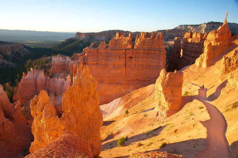 Photographer Takes Photo in Bryce Canyon
