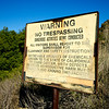 Trespassing Warning Sign for Danger