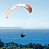 Paraglider above the Pacific Ocean