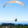 Paraglider above Santa Barbara