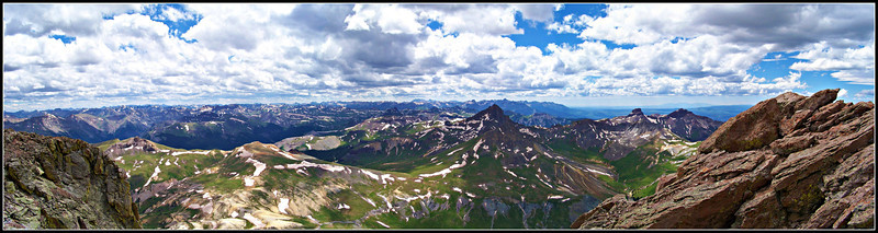 Wetterhorn Peak and the San Juan Mountains from the summit of Uncompahgre Peak, Colorado